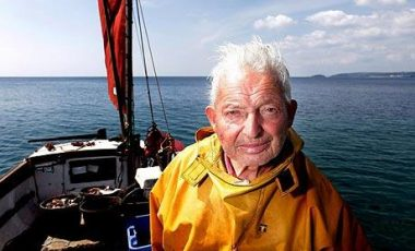 British Fisherman Fishing for Eight Decades